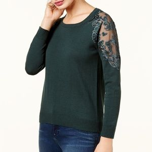 NWT INC X Large Lace Trimmed Sweater